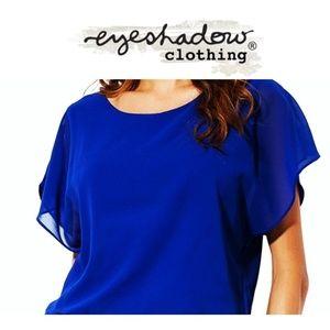 Eyeshadow Royal Blue Blouse Large